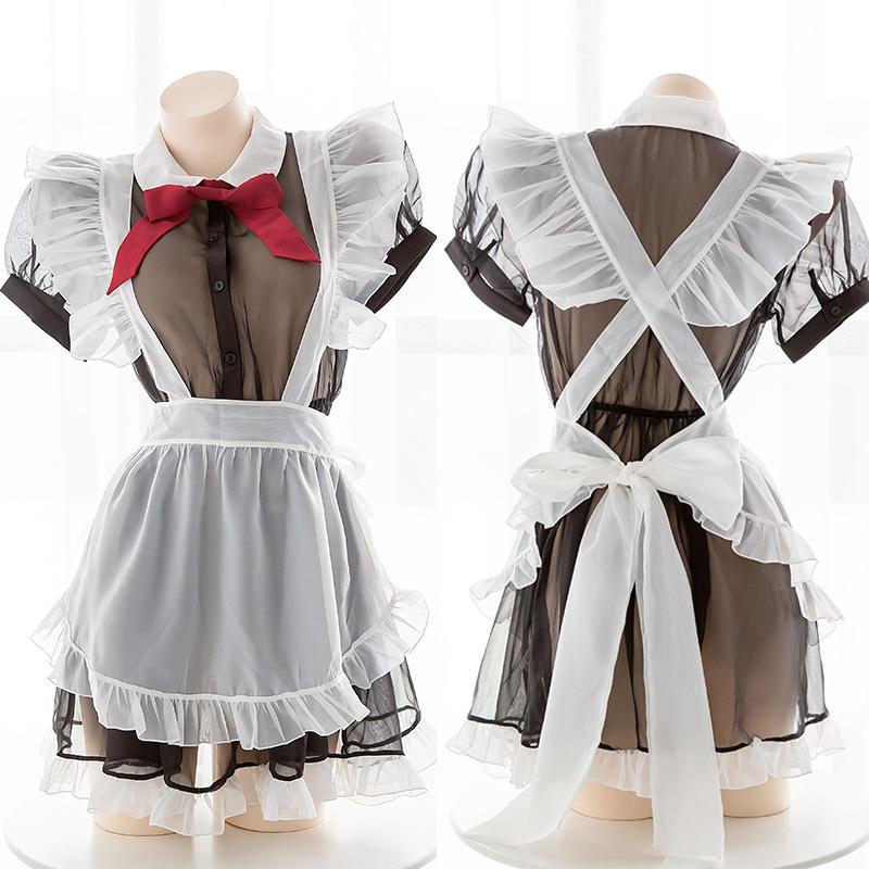 مهرجان المرحلة حلي أنثى لطيف خادمة اللباس Coaplay خادمة البدلة ريترو الملابس شفاف المريلة الموحدة الجديدة المثيرة الملابس الداخلية 797