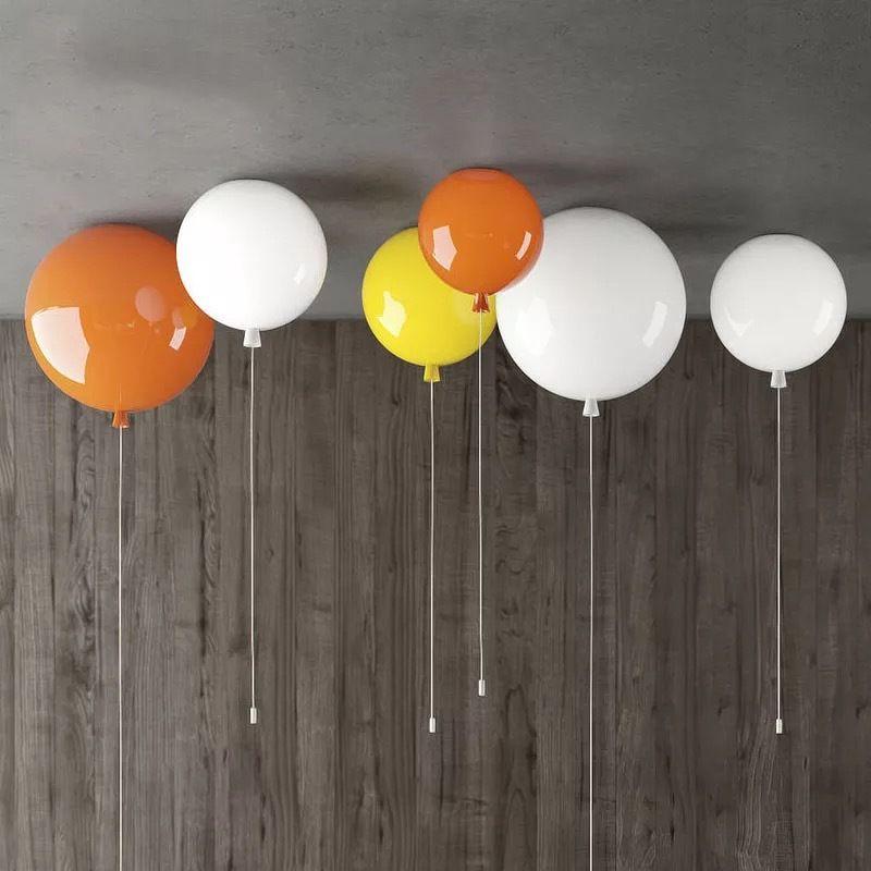 Color del globo lámpara de techo moderna minimalista Moda dormitorio lámpara de la lámpara cálida personalidad luces de techo del globo Niños habitación