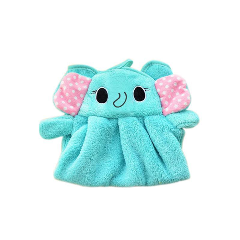 Симпатичные Дети Детские полотенца Мягкий коралл руно Kid Ребенок Полотенце шаржа младенца Wipe Sweat Hung младенца милый новорожденный Полотенце