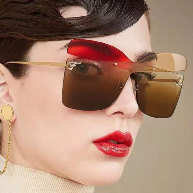 F Письмо Лето Женщина Cолнцезащитные очки Женщины пляжа Солнцезащитные очки UV400 6 Цвет опционный Высокое качество