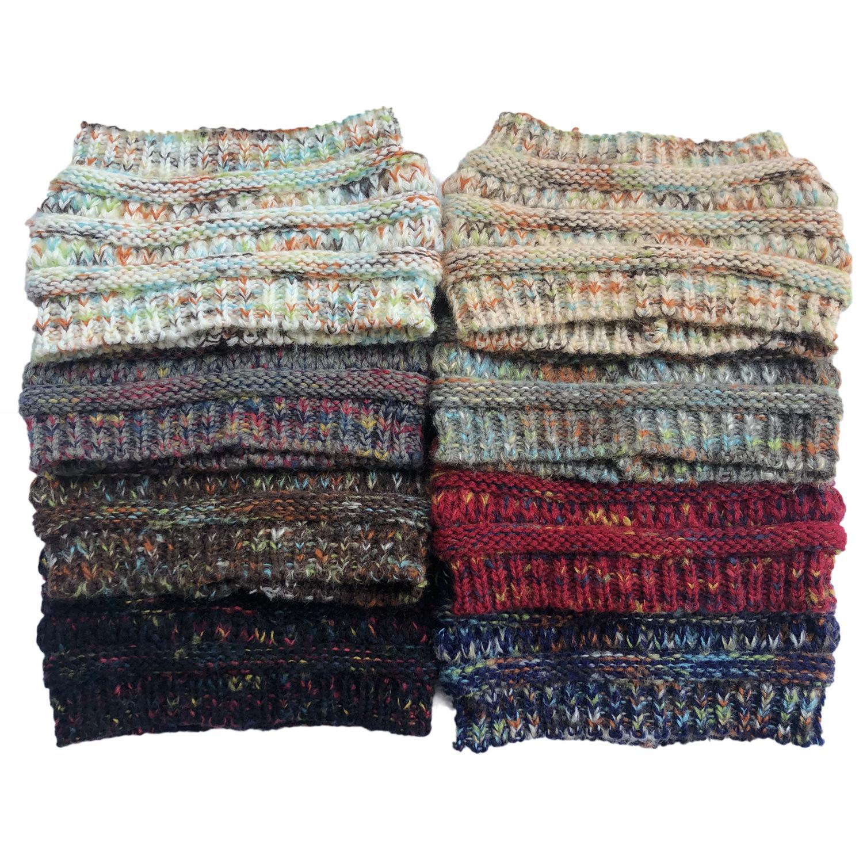 DHL libero donne Hairbands colorato lavorato a maglia Crochet Twist fascia dell'orecchio Winter Warmer Fascia elastica dei capelli Lady Ampia Accessori per capelli M964F
