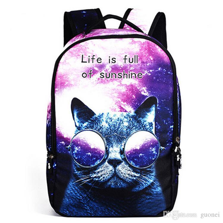 2016 new style multifunctional Fashion Backpacks Animal Printed 3D Backpacks school bags for students outdoor sports travel laptop backpack