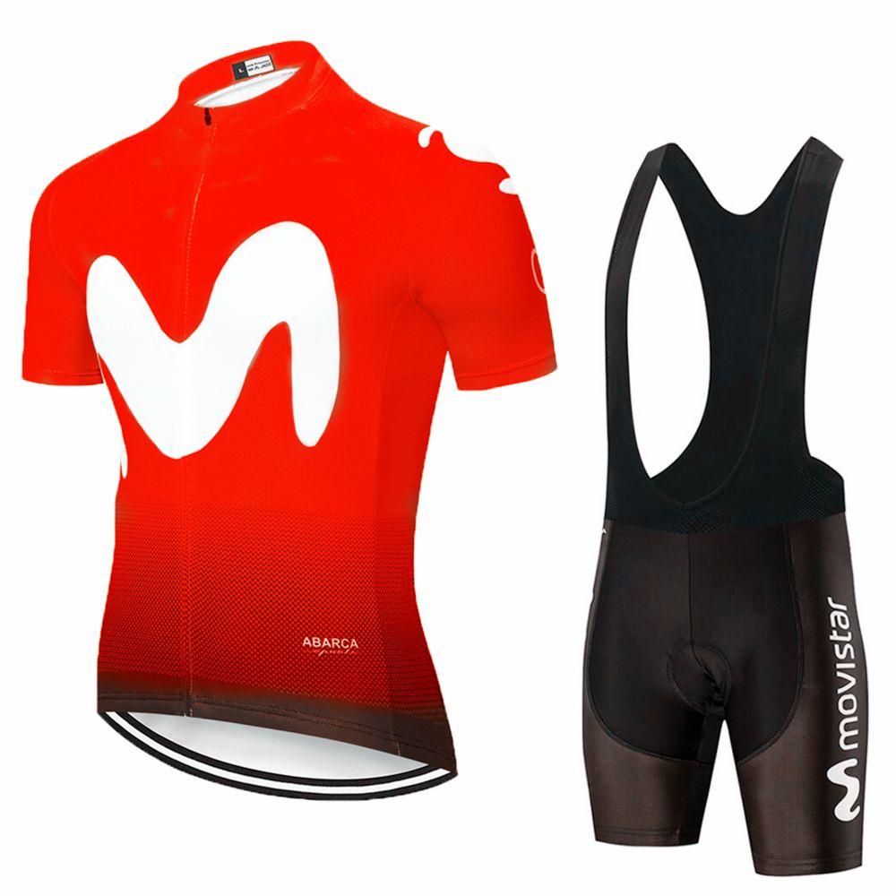 2019 RED MOVISTAR cyclisme maillot ÉQUIPE 20D cuissard Ropa Ciclismo été MENS sec rapide pro BICYCLETTE Maillot usure bas