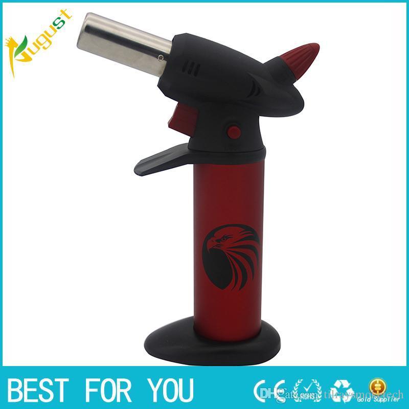 venta caliente GF-878 lanzallamas a prueba de viento encendedores encendedores de barbacoa chorro de gas puede ajustar la llama Reciclaje Encender la antorcha encendedor de cigarrillos