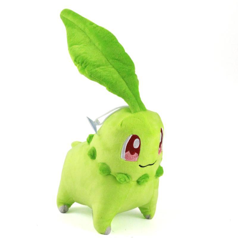 17 cm Chikorita lindo juguetes de peluche colgante relleno suave muñecas para regalos de niños de los niños de cumpleaños de Navidad