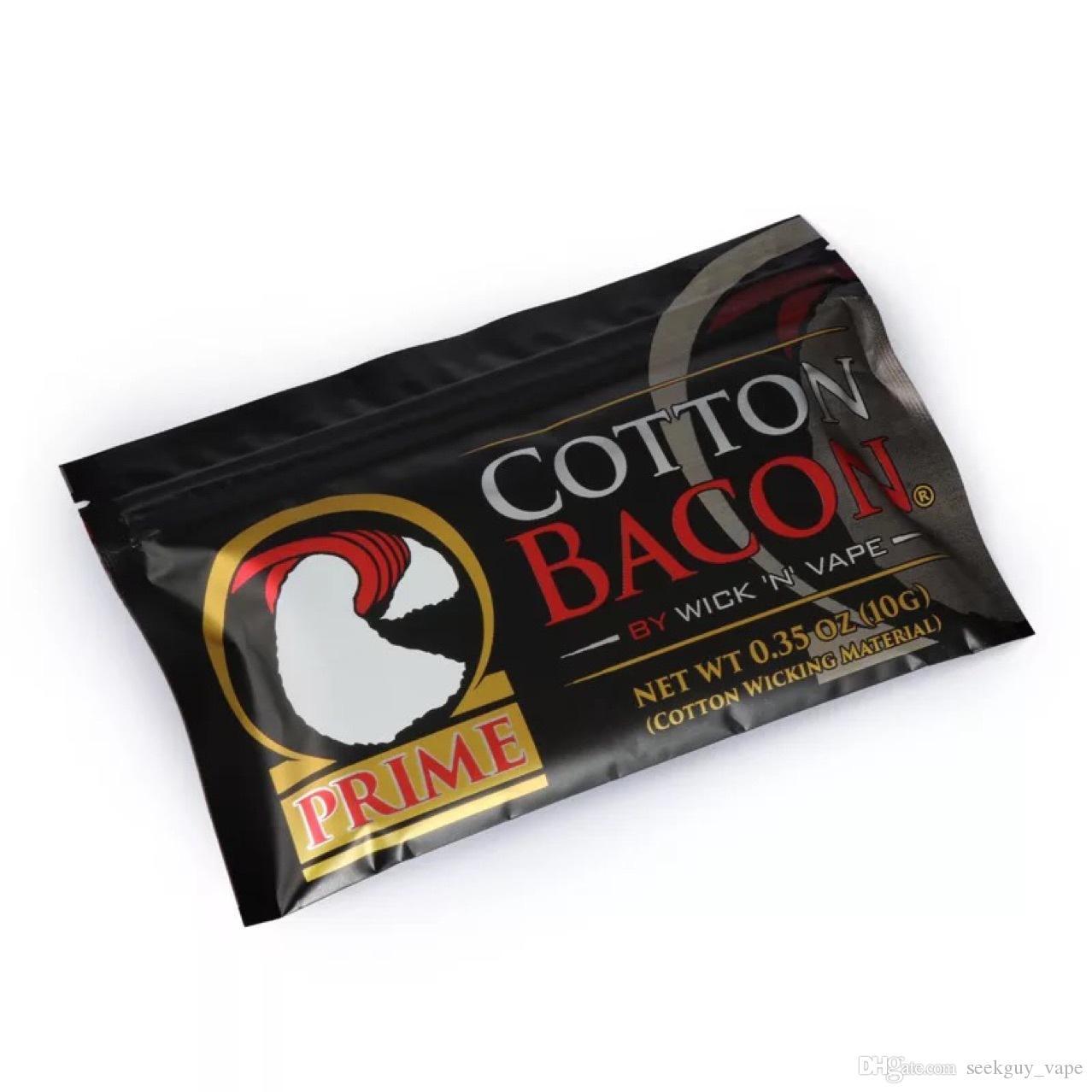 100% algodão orgânico O mais novo algodão Bacon 2.0 Prime Gold Versão para DIY RDA RBA Atomizers Aquecimento Coil Fio E Cigarro Vaporizadores