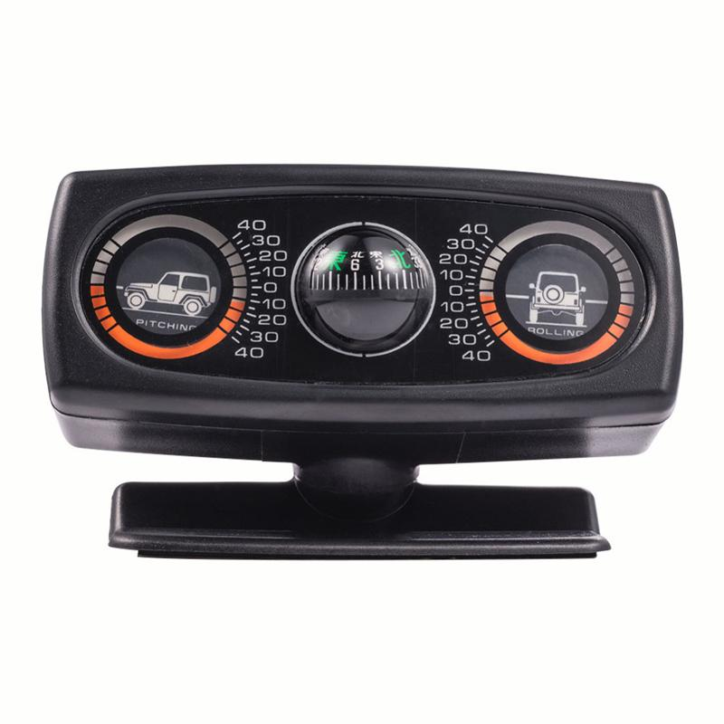 Car Decoration Inclinometer Compass Navigation Guide Inclination Tool Level Wave Instrument Interior Accessories For Auto Boat Vehicles