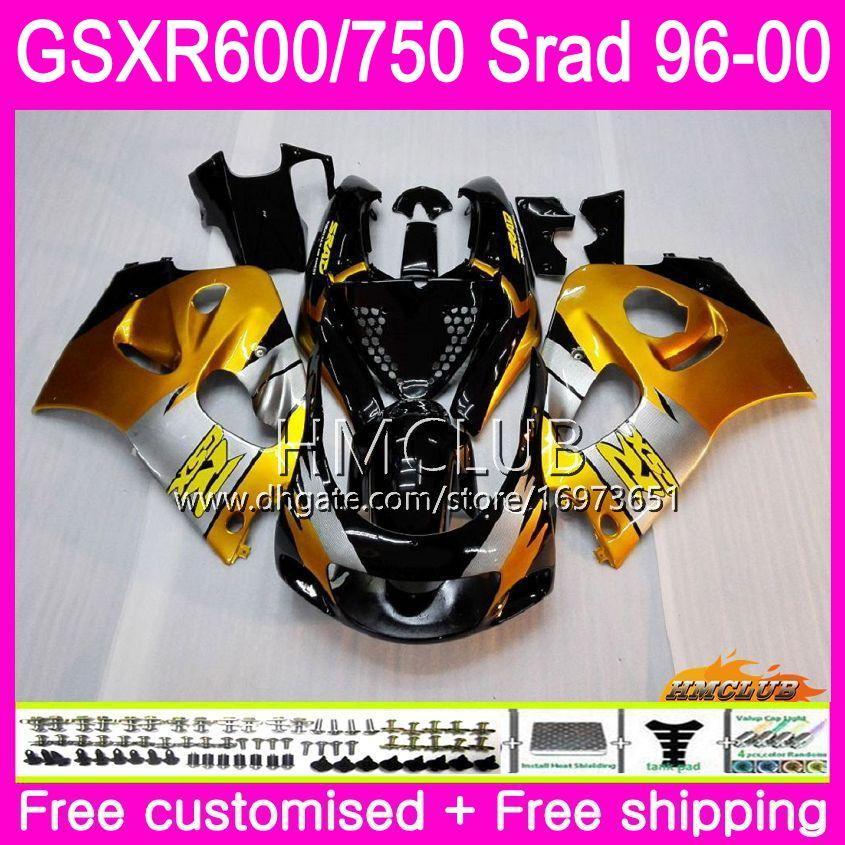 Body For SUZUKI SRAD GSXR 750 600 1996 1997 Golden black 1998 1999 2000 Kit 1HM.2 GSX-R750 GSXR-600 GSXR750 GSXR600 96 97 98 99 00 Fairing