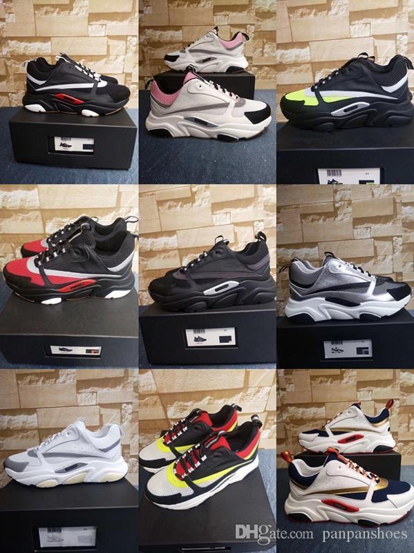 Les nouveaux hommes chaussures de créateurs pour les femmes avec de l'or en cuir véritable de qualité supérieure en rouge rayures bleu baskets rouges blanc taille 35-46 de jh19050211