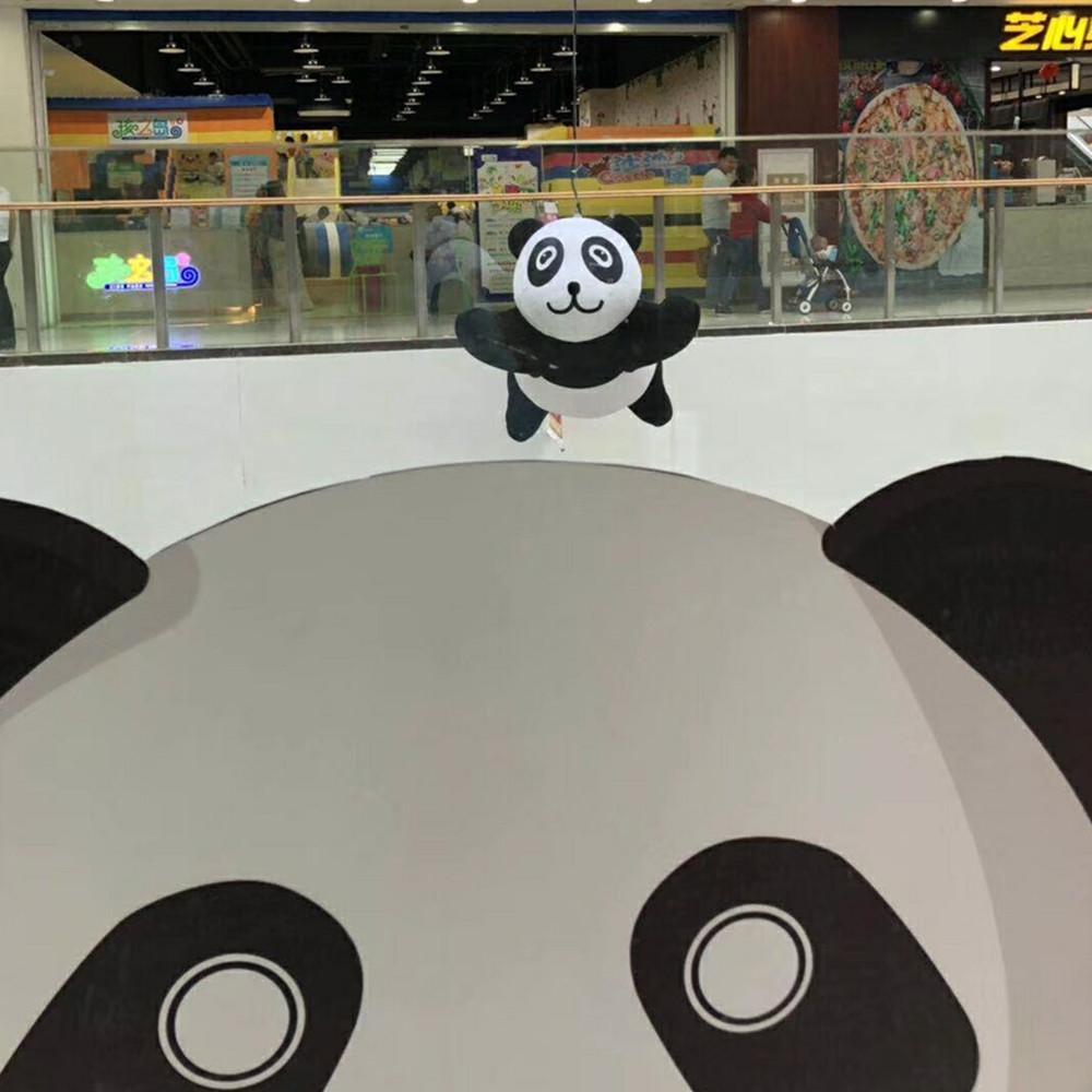 kulüp parti dekorasyon için şişirilebilir panda balonu Asma merkezi dekoratif şişme uçan panda Alışveriş