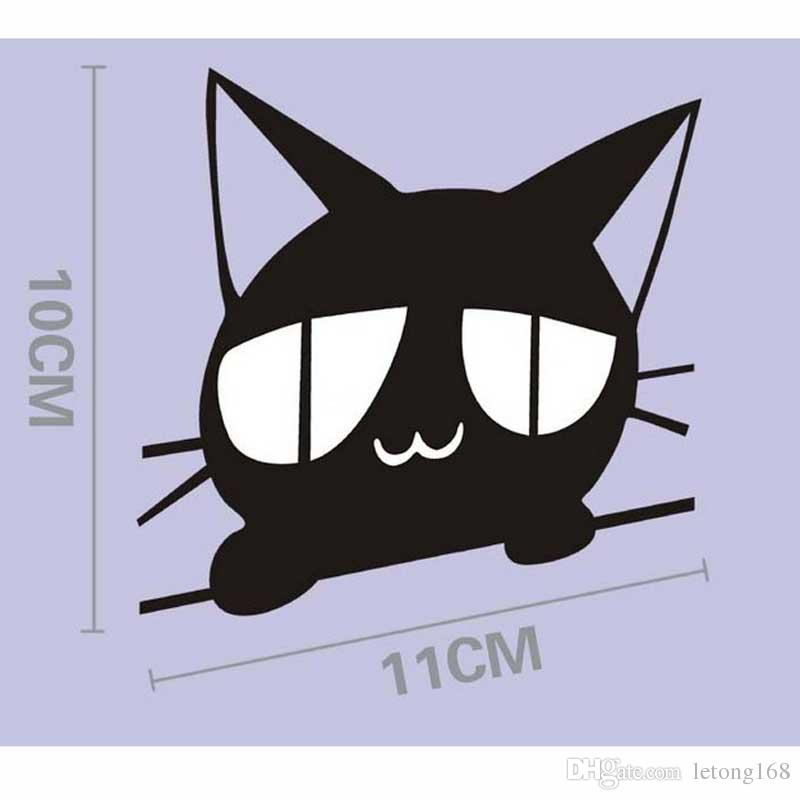 1PCS Reflective Cartoon Cat Car Stickers Body Decoration Scratched Decals