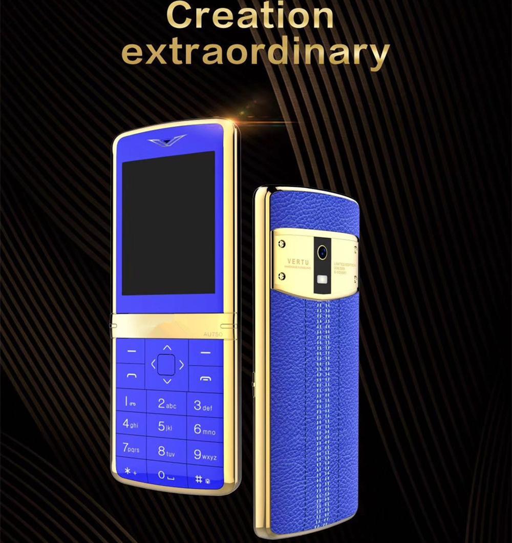 Plus récent super luxe débloqué téléphone mobile pour dame homme double armature en métal de mode carte de téléphone portable en acier inoxydable pas cher téléphone portable appareil photo