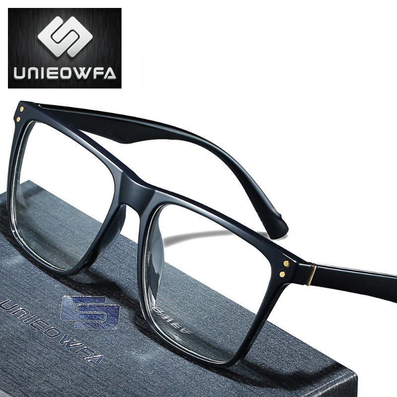 TR90 ретро игровой компьютер очки Мужчины Большие рамки Анти синий свет Блокировка очки Мужчины радиационной защиты Eyewear Clear Lens