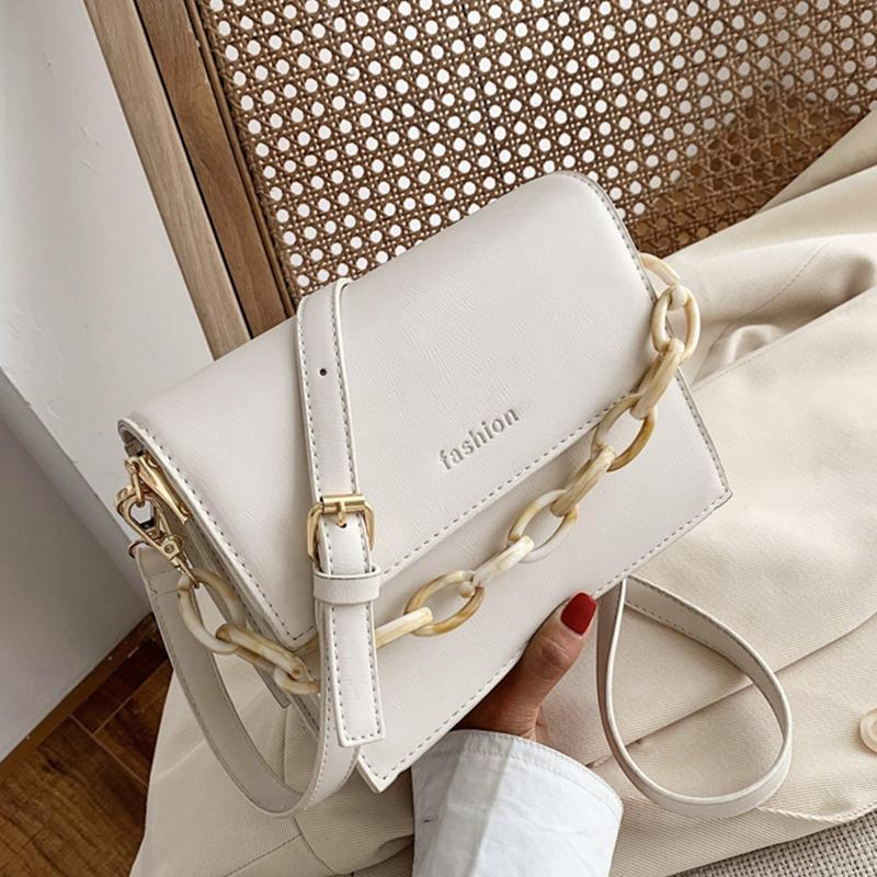 PU Leather letter Crossbody Bags For Women 2020 Small Chain Handbag Small Bag PU Leather Hand Bag Ladies Evening Bags