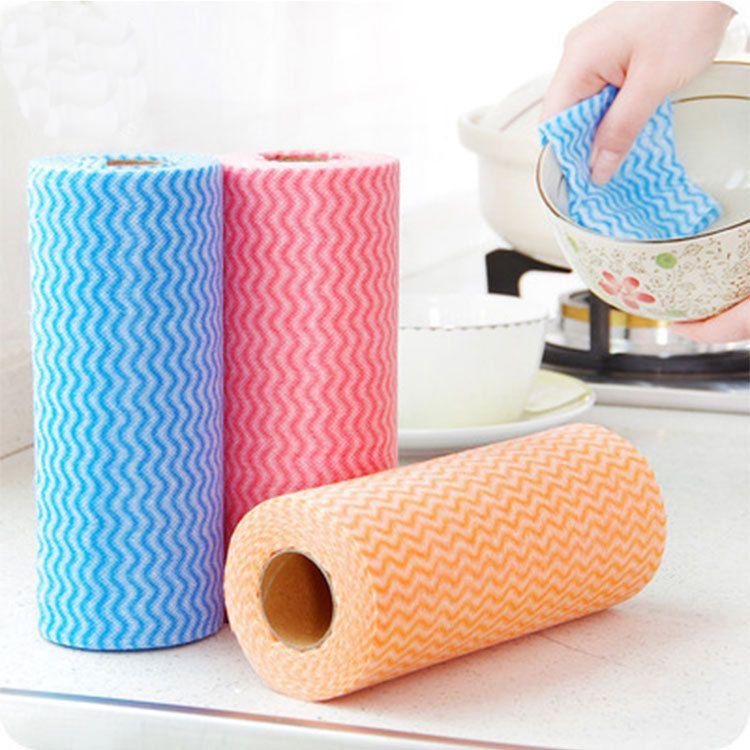 Papel Descartável Para Enrolar Papel Higiénico Não Tecido Anti-Óleo Toalhas Rápidas E Secas