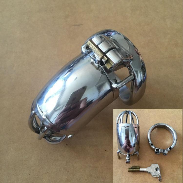 """NOUVEAU Small2020 nouvelle serrure design 70mm Cage Longueur en acier inoxydable super petit mâle Chastity Devices 1.6"""" Short Cock Cage pour hommes"""