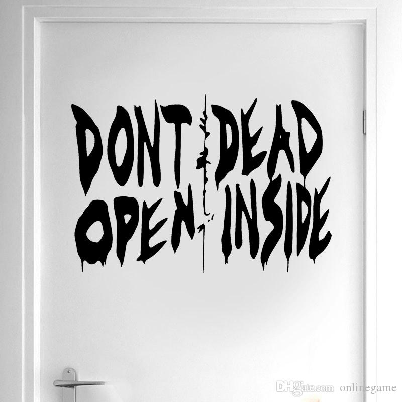 The Walking Dead Art Wall стикера винила Home Decor двери Не вскрывайте Dead Inside ЦЕНУ Съемный интерьер обои