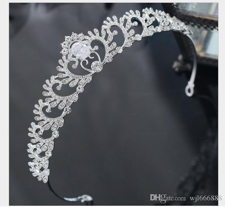 2019 cocar de noiva vestido brilhante acessórios de aniversário show de casamento vestido de noiva