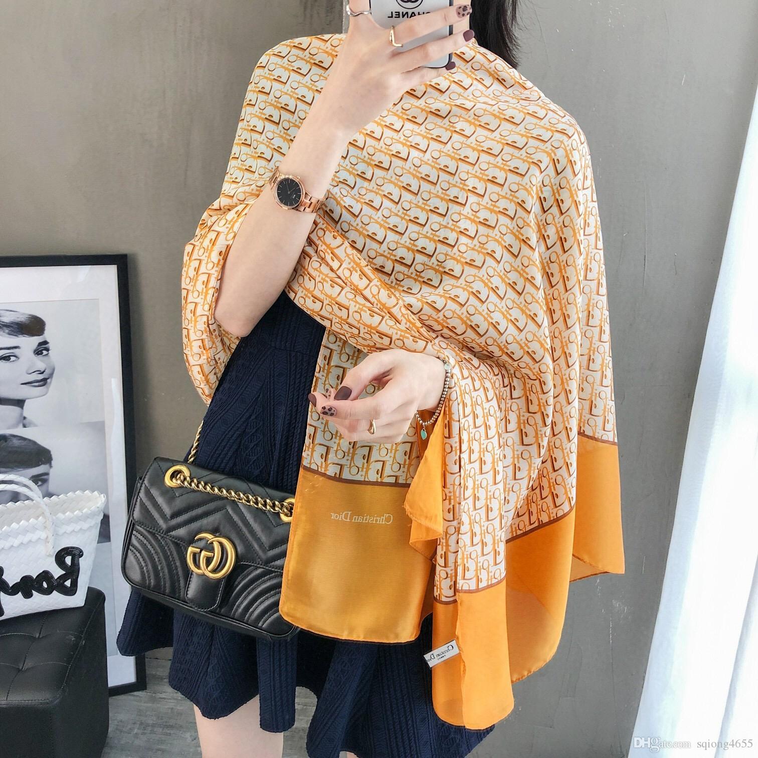 Французский роскошный модный шелковый шарф популярный дизайн высокое качество мягкий шелковый шарф для женщин дамы красивая пляжная шаль шарф оголовье шарфы