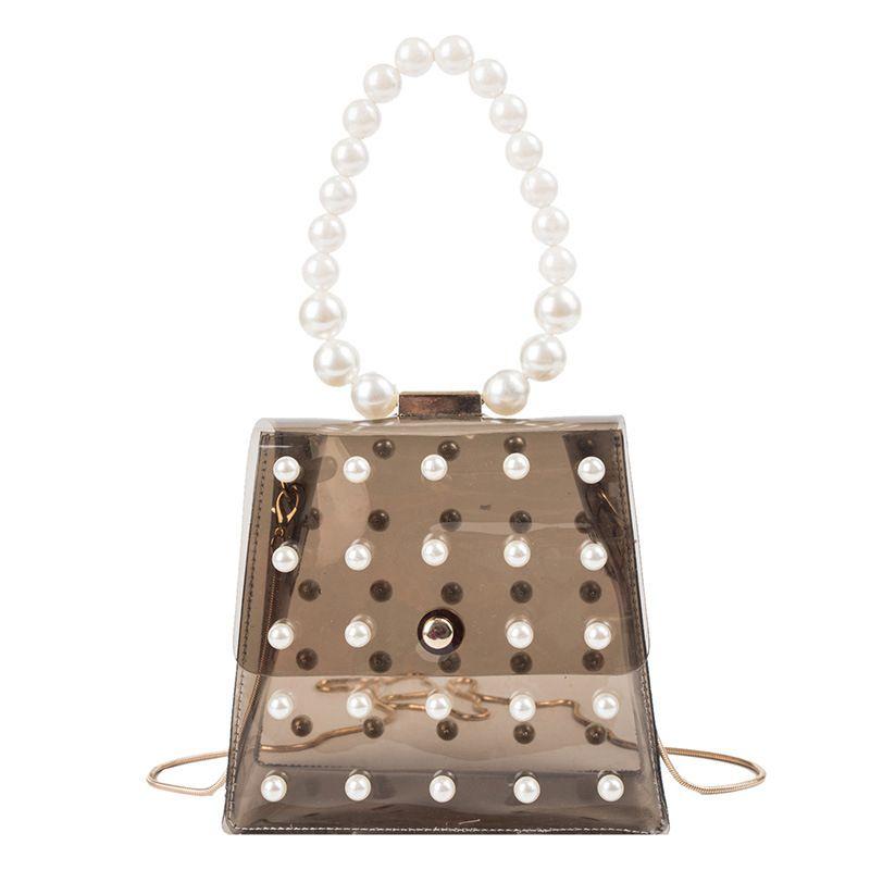 Rosa Sugao progettista borse borse gelatina borsa catena borsa di design per la borsa perla di spalla della ragazza di estate delle donne