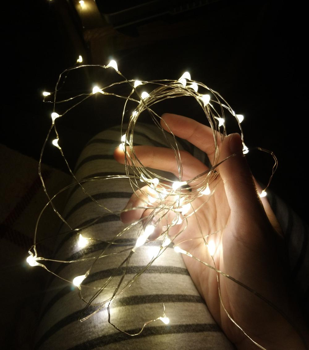 1M 2M 3M 5M 10M Bakır Tel LED ler Peri Garland İçin Yılbaşı Ağacı Düğün Dekorasyon