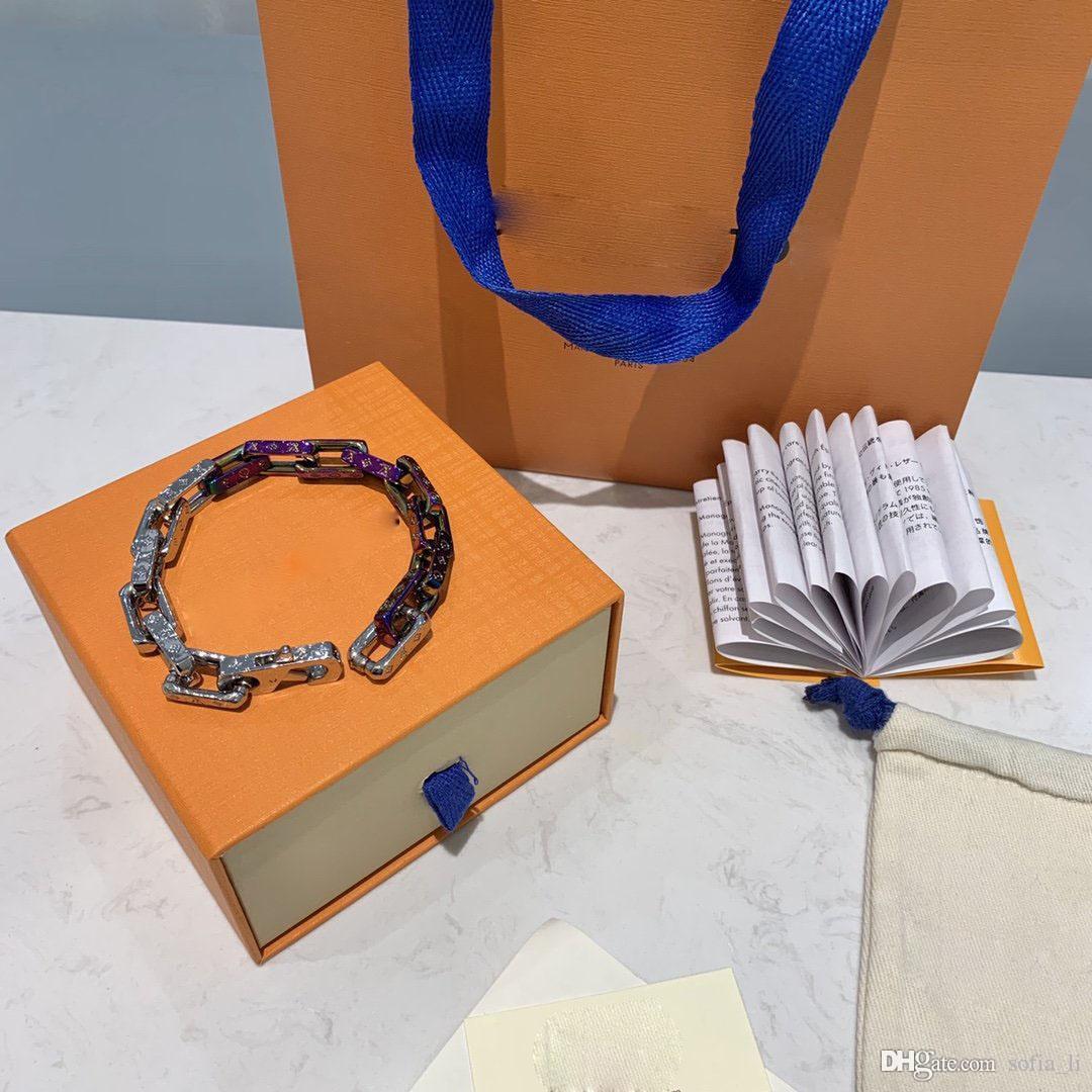 대나무 담금질 팔찌 디자이너 귀걸이 목걸이 보석 반지 고급 남성 팔찌 14K 골드 체인 쿠바 링크 체인 2020 새로운