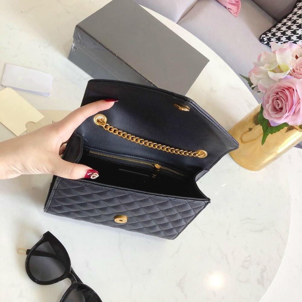 ang Gerçek Deri Çanta Çanta Debriyaj Kuzu derisi Moda Omuz Çantaları Çanta ile Üstte Altın payetli Marka Kadınlar Zinciri Messenger Mini