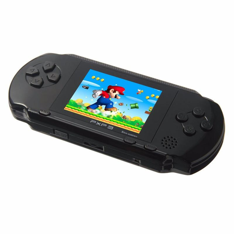 16 Bit PXP3 Handheld Game Player Video Gaming Console with AV Cable+ Game Cards Classic Child Family Video PXP 3 Game Console