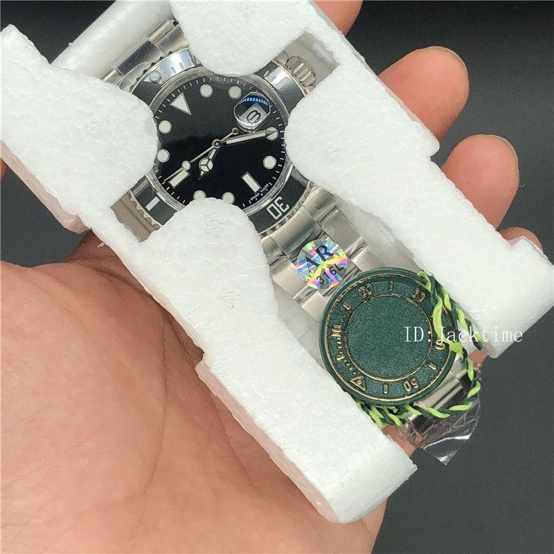 ARF 316L Çelik İzle 40mm Siyah Seramik Bezel saatı 116610 Asya 2813 Hareket Otomatik Su geçirmez Erkek Saatler Dial