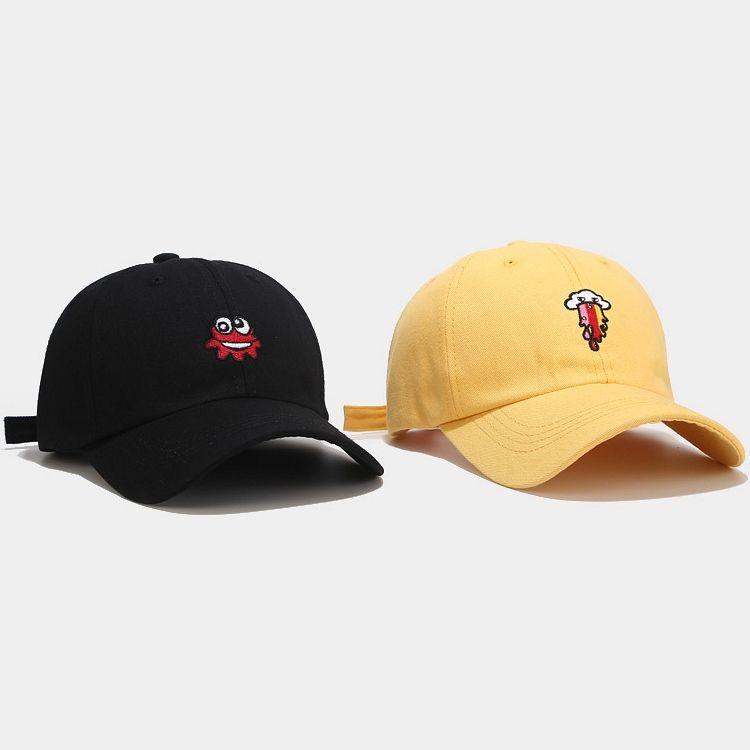 5 renk Yeni Canavar Nakış beyzbol şapkası Streetwear Hip Hop Snapback Erkekler Kadınlar Casquette Toptan AJJ331 İçin Siyah Beyaz Baba şapkası Caps