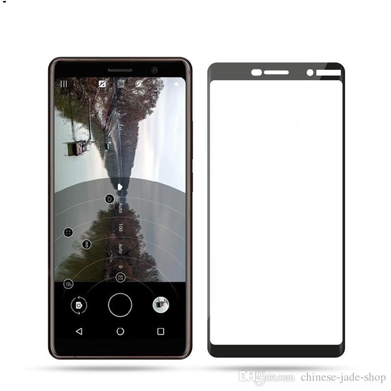 9H Full Screen in vetro temperato per proteggi schermo e colla per Nokia X71 2.2 X5 X6 3.1 5.1 6.1 200pcs / lot