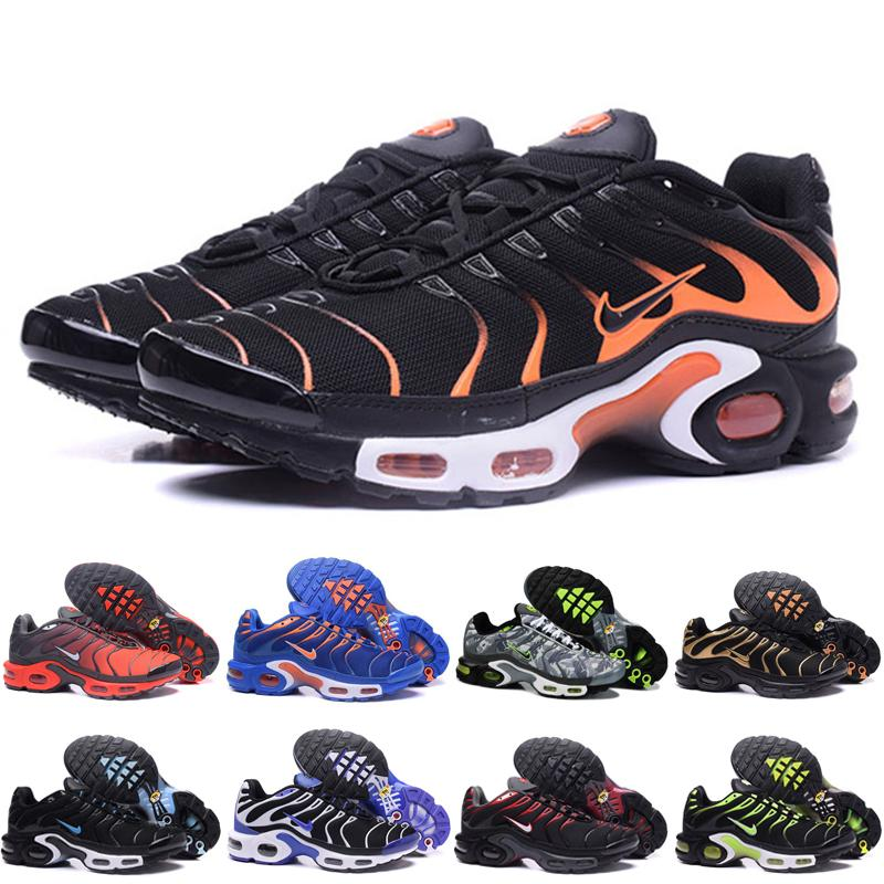 Hot Sell 2019 Original Mens Tn Sports Shoes Air Tn Plus Chaussures Requin Fashion Breathable Mesh jogging Casual Sneaker