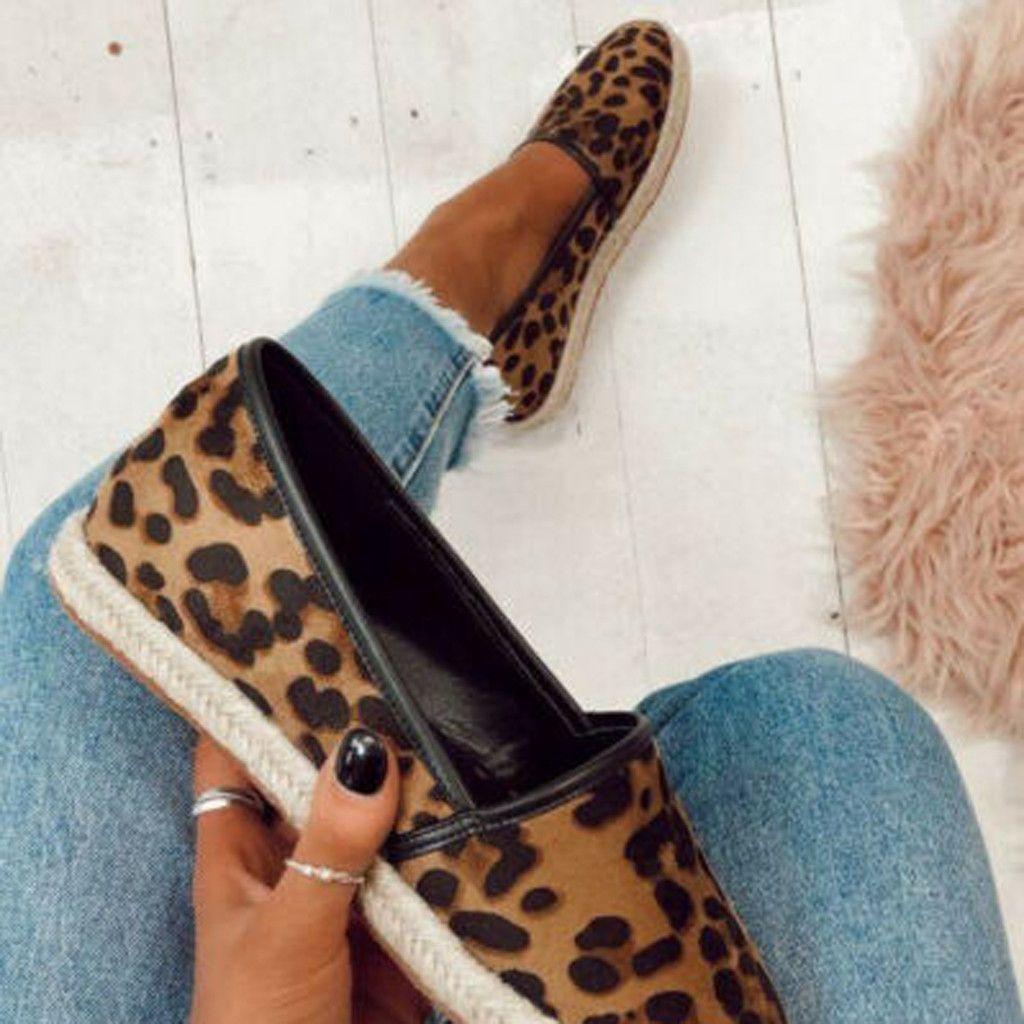 Новая осень мода мокасины свободного покроя квартир женщин плюс размер плоские ботинки сексуальные дамы леопарда круглый носок туфли Дамские похороню