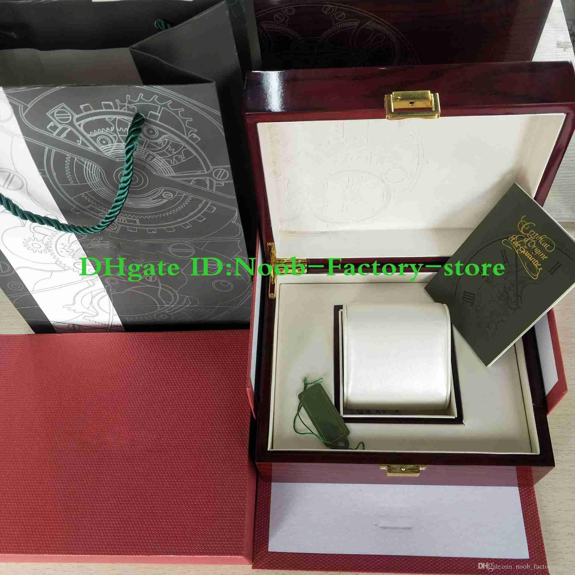 Spedizione gratuita Guarda di lusso orologio originale box documenti di legno regalo scatole da regalo borsa 15400 15710 Swiss 3120 3126 7750 orologi uso