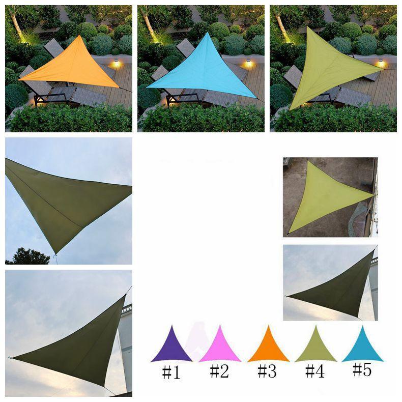 Refugios de sol a prueba de agua al aire libre Triángulo Parasol Canopy Jardín Patio Piscina cortina de la vela Toldo patio decoraciones de jardín CCA11789 A-10pcs