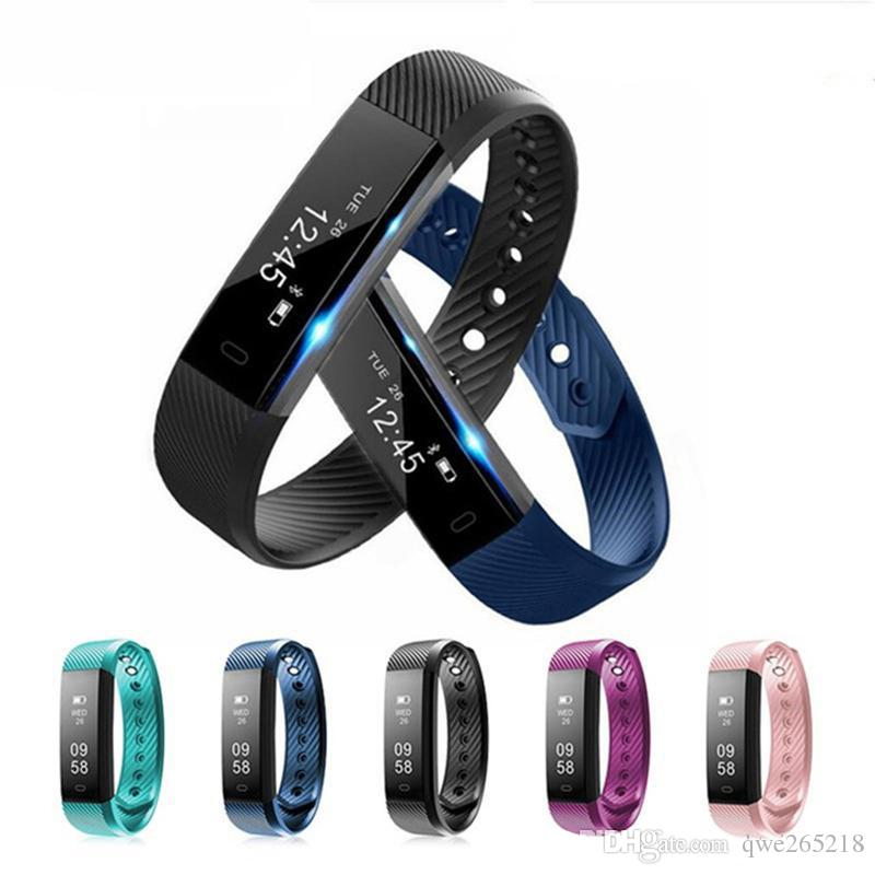 ID115 Plus Smart Bracelet Fitness Tracker Smart Watch Heart Rate Watchband Smart Wristband For Apple Android Cellphones with Box 0007