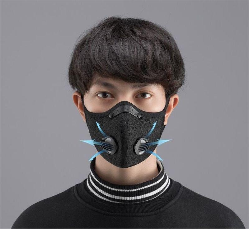 Navio livre DHL! Máscara exterior Boca Air Fiters Anti névoa de poeira respirável PM2.5 substituível Hot QAGJIV