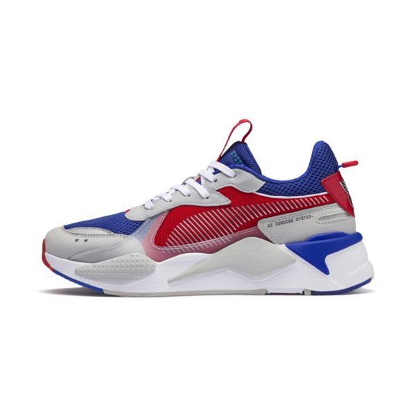 puma chaussure bleu blanc rouge