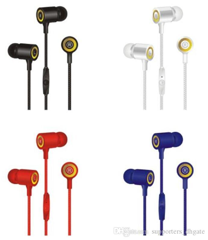 Hot Earphones 3.5MM in-ear Headphones CY-030 Hands Free Universal bass Stereo headset Earbuds mic with retail package for Mobile phone DHL