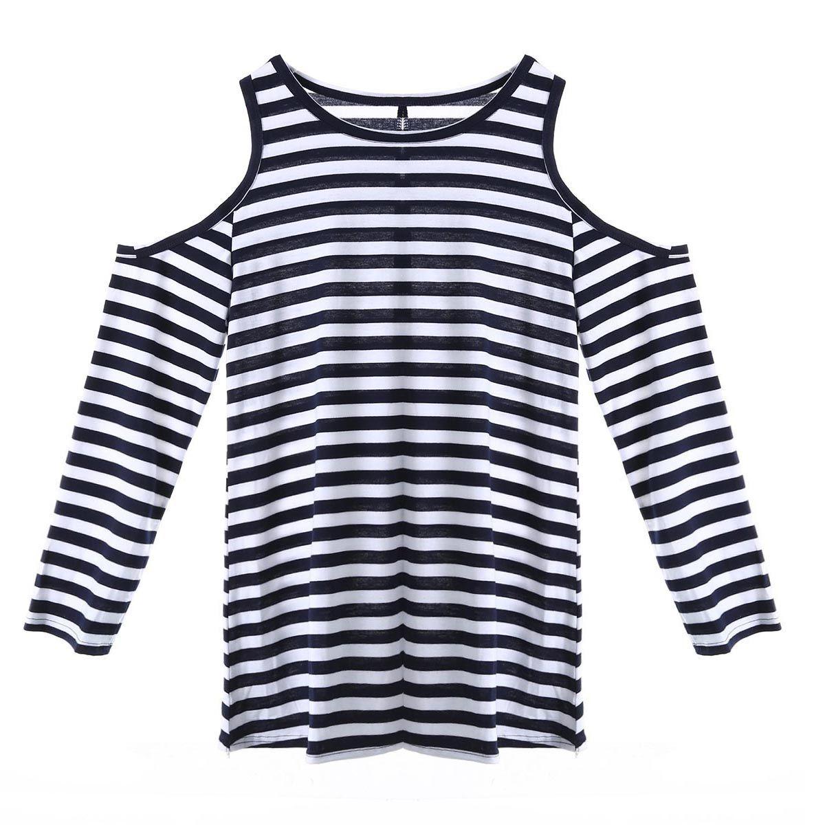 Frauen Art und Weise Damen Freizeit Pullover Langarm-lose Oberseiten-T T-Shirt weibliches T-Shirt für Frauen