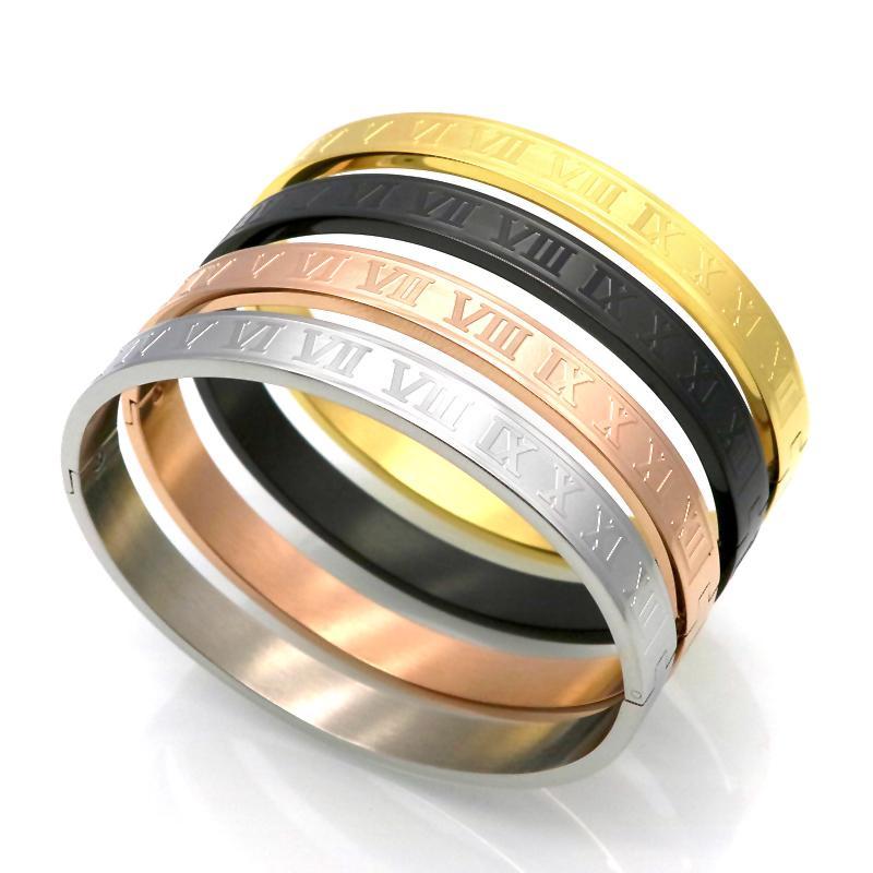 braccialetto in acciaio al titanio McIlroy bracciale bracciali in acciaio inossidabile braccialetti d'oro delle donne degli uomini / amore / braccialetti di apertura nuovo stile di vendita calda V191212