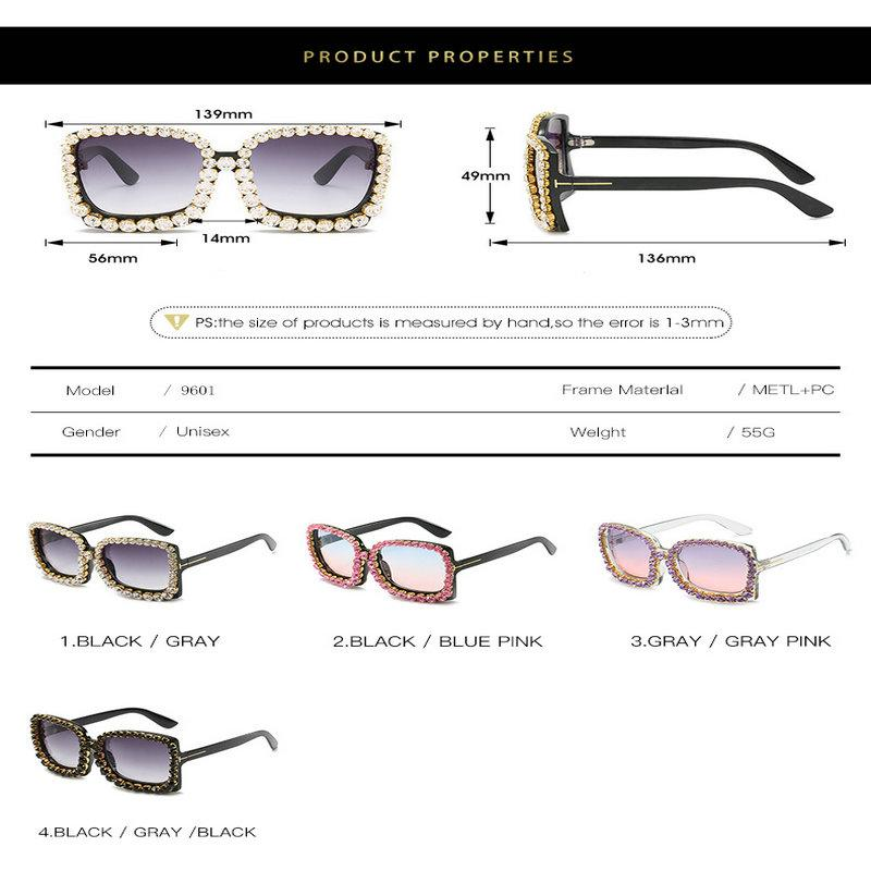 İçin Diamond güneş gözlüğü çerçevesi Lady oval Güneş Parlak Elmas Çerçeve Kadınlar Marka Gözlük Tasarımcı Moda Erkek Kadın Shades-in Womens