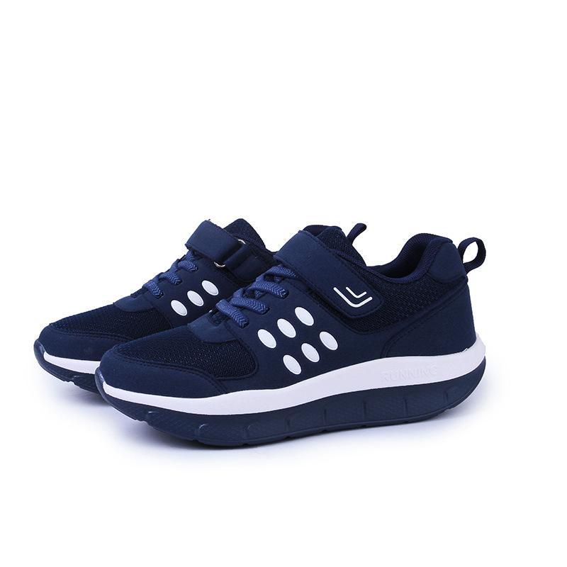 Las mujeres calientes de la venta-Nueva grande del tamaño de malla transpirable zapatillas rojas en los zapatos de plataforma Jump aptitud Schuhe Zapatos Fitnes