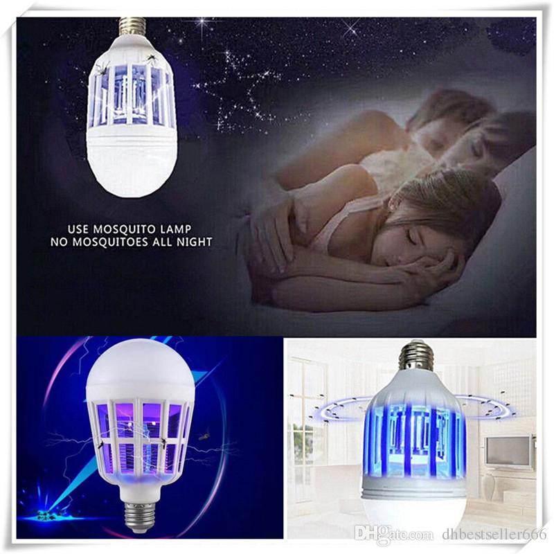 2 em 1 Bug Zapper Lâmpada LED E27 15 W Assassino Do Mosquito Lâmpada Lâmpadas de Controle de Pragas Ao Ar Livre Indoor