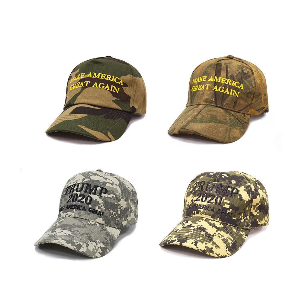 2020 MAGA Camo Embroidered Hat Keep Make America Great Again Cap US Stock Men Women Camouflage Baseball Hat Visor