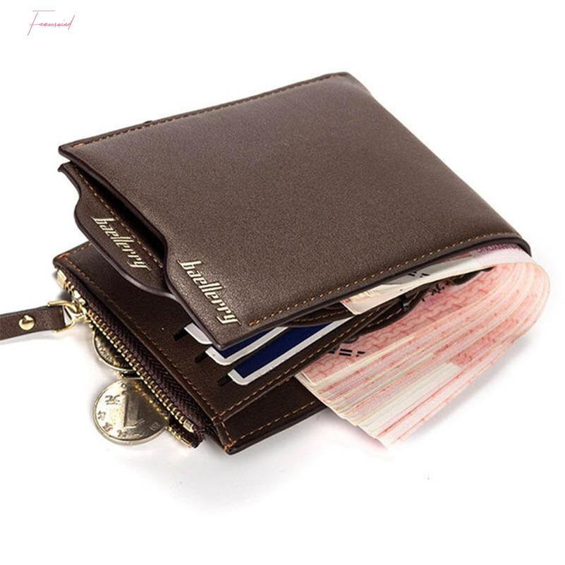 Mode Kleine Kupplung Portfolio Männer Männliche Brieftaschen Portomonee Geldbörsen Vallet Walet Münze Geld Marke Cuzdan Pocket Bag Tekgm