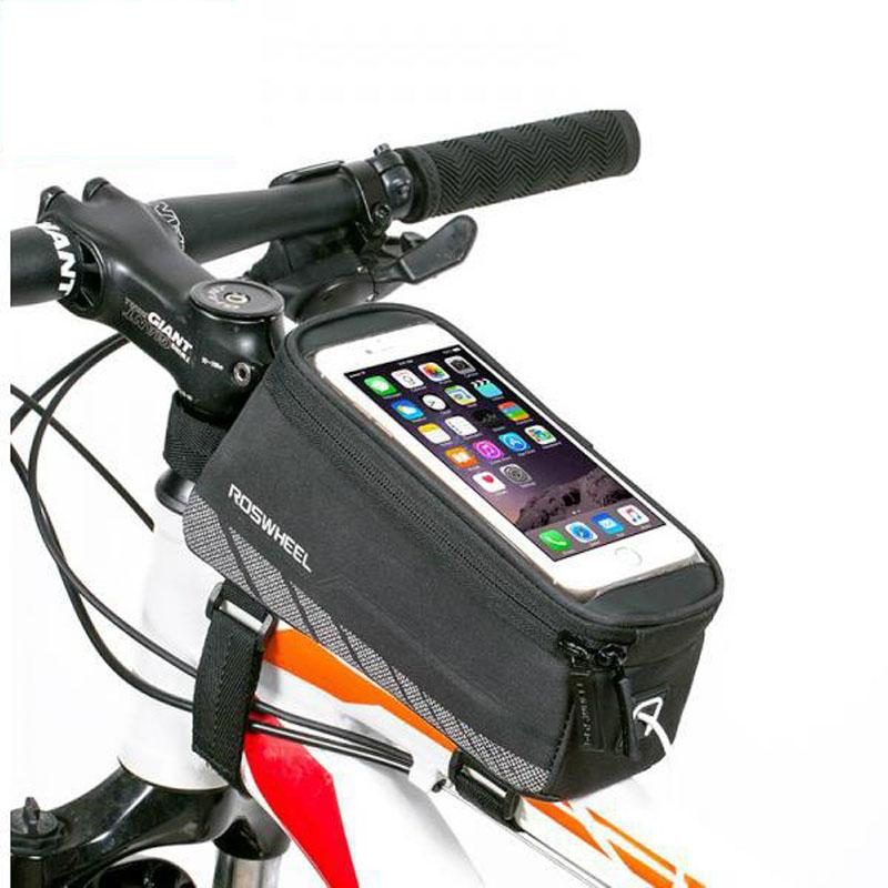 MTB Road Bike Phone Bag Touchscreen Bicycle Saddle Bag Case For Iphone Samsung Cycling Front Frame Tube Bicycle Phone Bag Cover