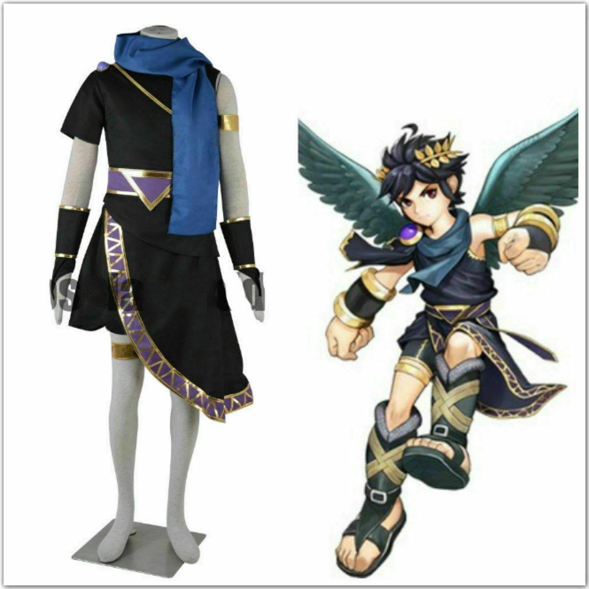 nouveau kid! Icarus Uprising Pit cosplay costume noir