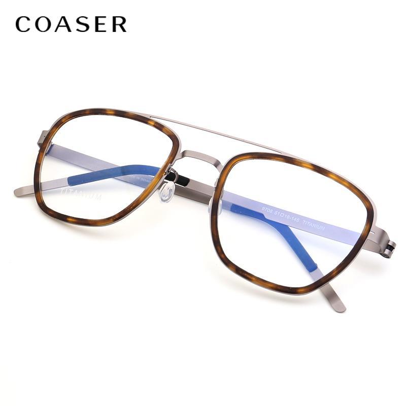 NOUVEAU Titanium Lunettes Cadre Hommes métal Marque Danemark Sans vis lunettes optiques prescription Vintage lunettes rondes Myopie
