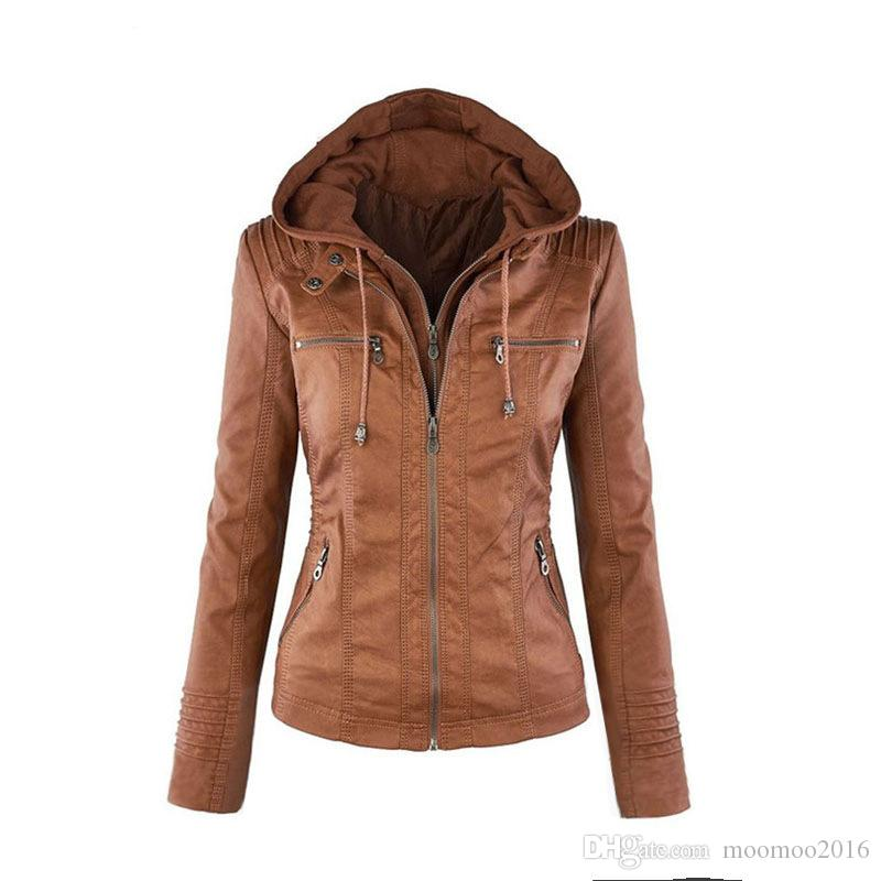 Plus Size 7XL Women Clothing 2018 Europe and America Women's Fashion Leather Jacket Female Pure Windproof Warm Outerwear Casual Coats